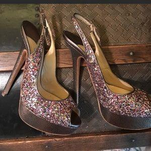 Jimmy choo sparkle heels pink